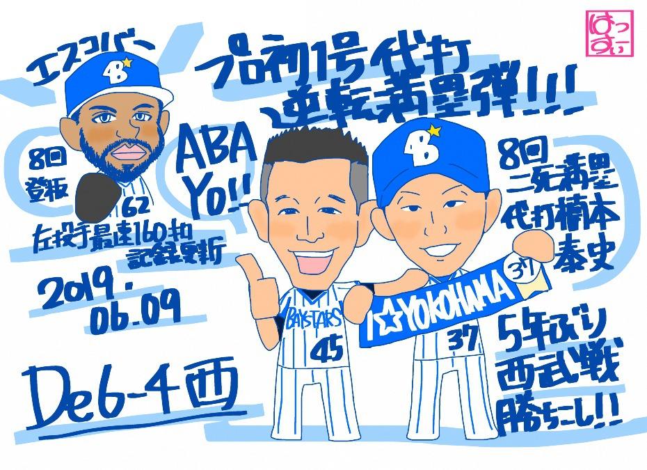 楠本選手プロ初代打逆転満塁ホームラン!!