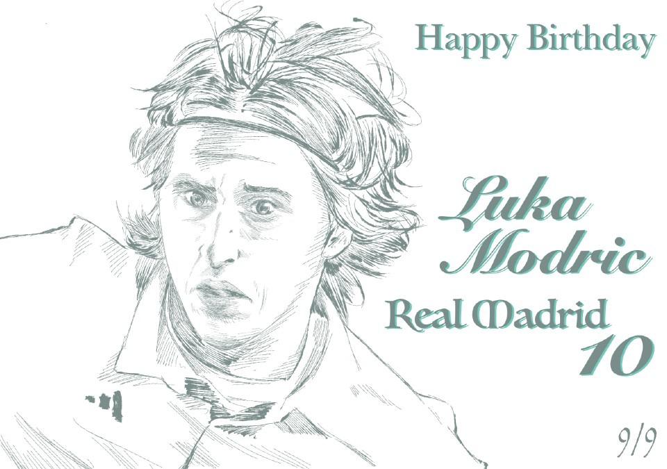 モドリッチ選手、誕生日おめでとうございます。
