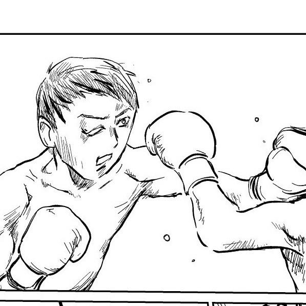 ムスメとボクシング中継を観ていて