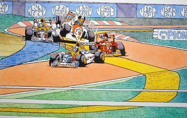 F1/漫画タッチの絵
