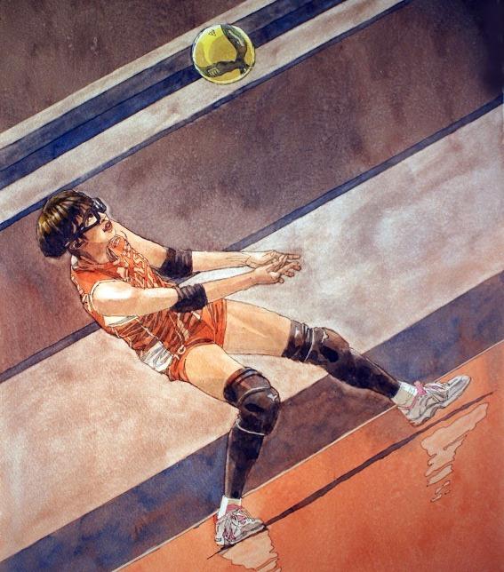 女子バレーボール/ゴーグル選手