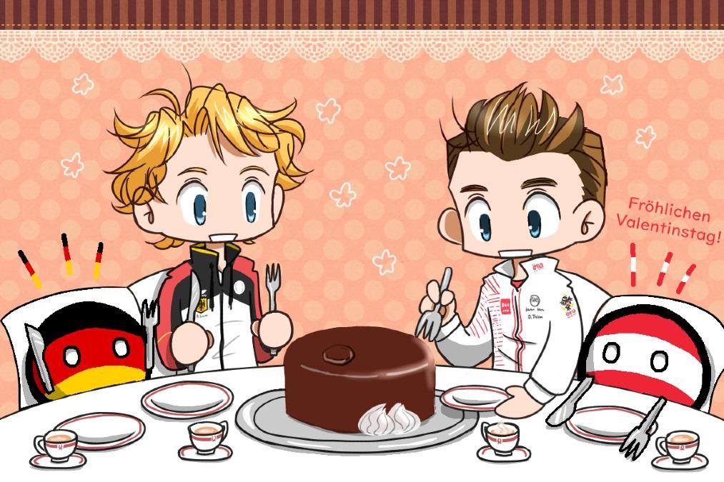 ドイツとオーストリアのバレンタインデー