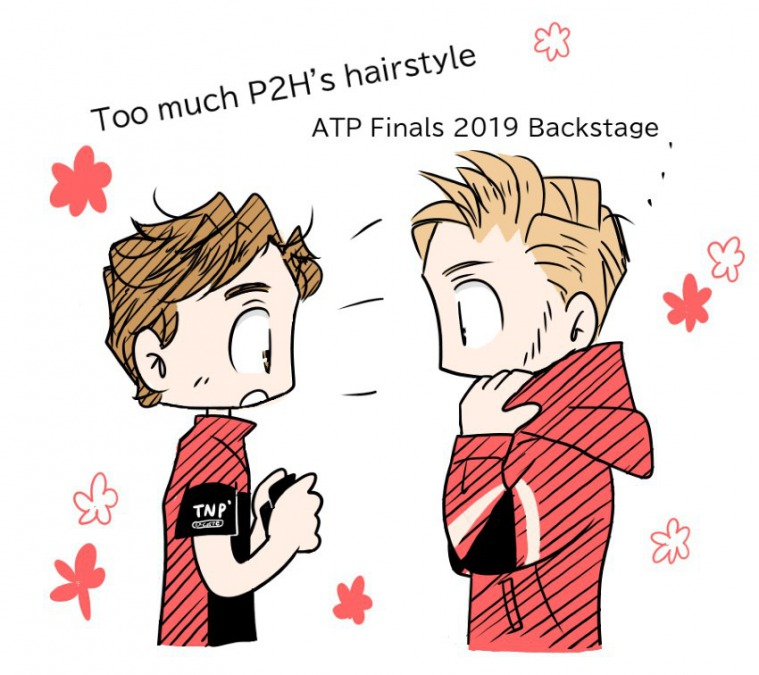 Too much フランスの後輩の髪の毛