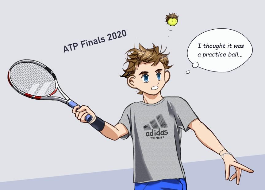 ATPファイナルズ 練習用のボールだと思ったのに!