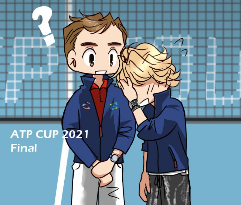 ATPカップ いつも笑わないわけじゃない