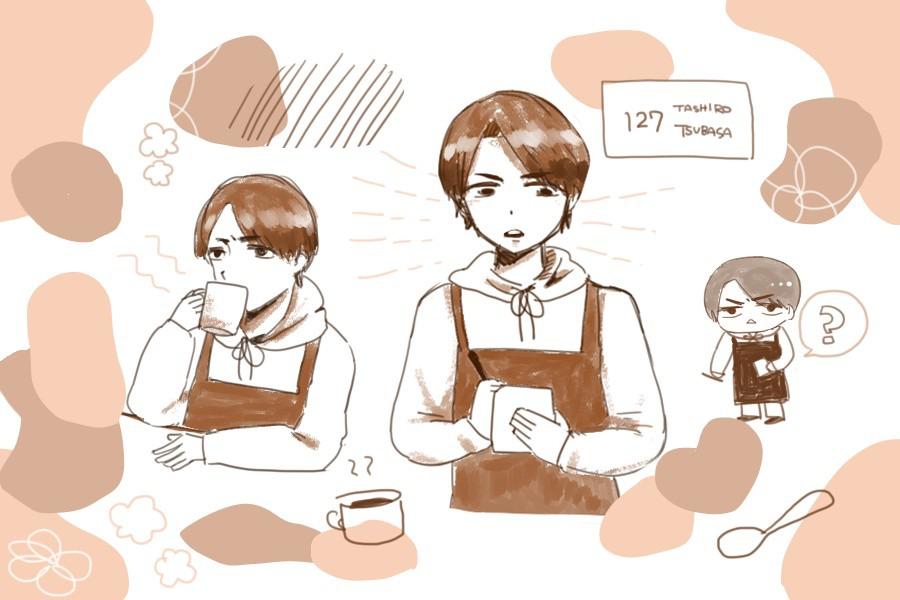 オリ姫デーのカフェ店員さん