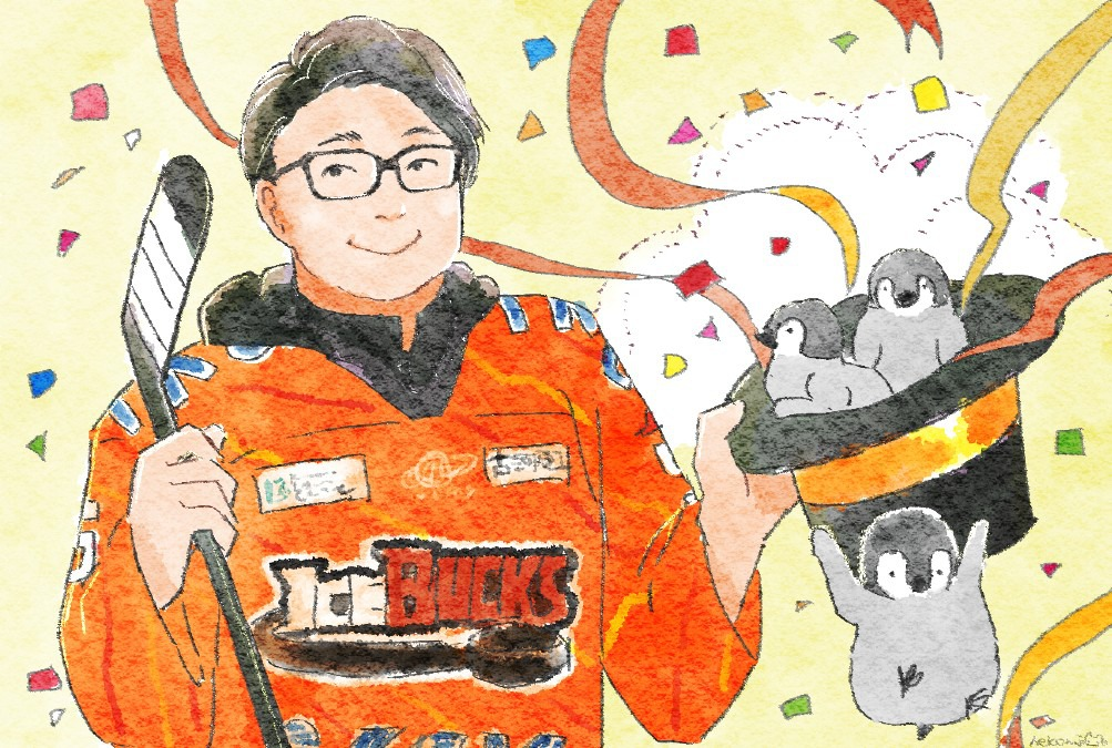 #5 石川貴大選手(…と、ペンギン)